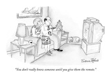 """You don't really know someone until you give them the remote."" - New Yorker Cartoon Premium Giclee Print by Victoria Roberts"