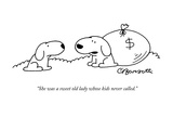 """She was a sweet old lady whose kids never called."" - New Yorker Cartoon Premium Giclee Print by Charles Barsotti"