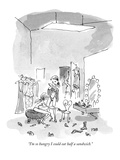 """I'm so hungry I could eat half a sandwich."" - New Yorker Cartoon Premium Giclee Print by Pat Byrnes"