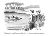"""Nature can be cruel, but occasionally there are instances of great compas…"" - New Yorker Cartoon Premium Giclee Print by Mike Twohy"
