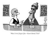 """Wait. I never forget a face—Easter Island, 1722!"" - New Yorker Cartoon Premium Giclee Print by J.C. Duffy"