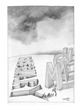 """February to March"" - New Yorker Cartoon Premium Giclee Print by Saul Steinberg"