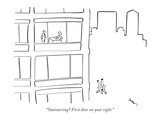 """Outsourcing First door on your right."" - New Yorker Cartoon Premium Giclee Print by Michael Shaw"