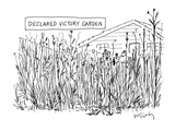 """Declared Victory Garden"" - New Yorker Cartoon Premium Giclee Print by Mike Twohy"