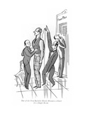 One of the New Bachelor Hotels Measures a Guest for a Single Room - New Yorker Cartoon Premium Giclee Print by Peter Arno