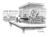 Lab rat getting a prison visit from wife. - New Yorker Cartoon Premium Giclee Print by Mike Twohy