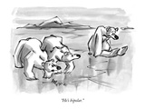 """He's bipolar."" - New Yorker Cartoon Premium Giclee Print by Lee Lorenz"