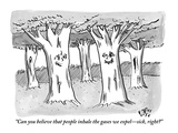 """Can you believe that people inhale the gases we expel—sick, right"" - New Yorker Cartoon Premium Giclee Print by Farley Katz"