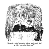 """Scratch a chief executive officer, and you'll find a chief executive litt…"" - New Yorker Cartoon Premium Giclee Print by Robert Weber"