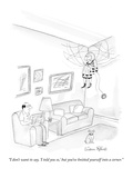 """""""I don't want to say, 'I told you so,' but you've knitted yourself into a …"""" - New Yorker Cartoon Premium Giclee Print by Victoria Roberts"""