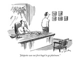 """Jalapeño was our first bagel to go platinum."" - New Yorker Cartoon Premium Giclee Print by Mike Twohy"