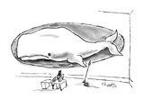 Ahab with White whale on a plaque. - New Yorker Cartoon Premium Giclee Print by Sidney Harris