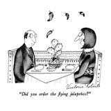 """Did you order the flying jalapeños"" - New Yorker Cartoon Premium Giclee Print by Victoria Roberts"
