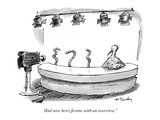 """And now here's Jerome with an overview."" - New Yorker Cartoon Premium Giclee Print by Mike Twohy"