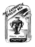 An Authentic Grecian Urn-drawn from memory - New Yorker Cartoon Premium Giclee Print by Stephanie Skalisky