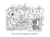 """Guacamole is the chopped liver of Mexico."" - New Yorker Cartoon Premium Giclee Print by Victoria Roberts"