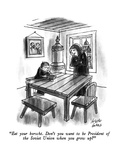 """Eat your borscht.  Don't you want to be President of the Soviet Union whe…"" - New Yorker Cartoon Premium Giclee Print by Joseph Farris"