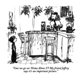 """Can we go see 'Home Alone 2'  My friend Jeffrey says it's an important p…"" - New Yorker Cartoon Premium Giclee Print by Robert Weber"