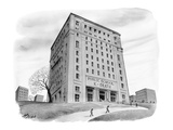 "School buidling with sign: ""Public School 261 K-Death"" - New Yorker Cartoon Premium Giclee Print by Harry Bliss"