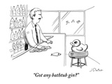 """Got any bathtub gin"" - New Yorker Cartoon Premium Giclee Print by Joe Dator"