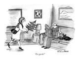 """En garde!"" - New Yorker Cartoon Premium Giclee Print by Victoria Roberts"