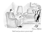 """Shall I mark you absent or present today - New Yorker Cartoon Giclee Print by Victoria Roberts"