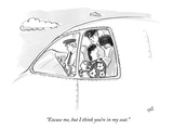 """Excuse me, but I think you're in my seat."" - New Yorker Cartoon Premium Giclee Print by Carolita Johnson"