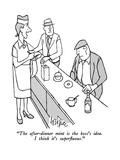 """The after-dinner mint is the boss's idea.  I think it's superfluous."" - New Yorker Cartoon Premium Giclee Print by George Price"