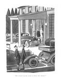 """Mrs. Choate's just fine, thank you. How's Mrs. Delano"" - New Yorker Cartoon Premium Giclee Print by Peter Arno"