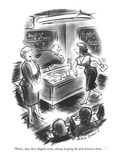 """Notice, class, how Angela circles, always keeping the desk between them .…"" - New Yorker Cartoon Reproduction giclée Premium par Jr., Whitney Darrow"