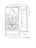 Mothers' Day sign in liquor store. - New Yorker Cartoon Premium Giclee Print by Roberta Macdonald