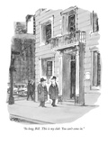 """So long, Bill. This is my club. You can't come in."" - New Yorker Cartoon Premium Giclee Print by Robert Weber"