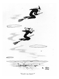 """Look—no hands!"" - New Yorker Cartoon Premium Giclee Print by Chon Day"