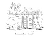 """I'm not a scaredy-cat—I'm phobic."" - New Yorker Cartoon Premium Giclee Print by Barbara Smaller"