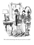 """He's at that awkward age when they can try him as an adult."" - New Yorker Cartoon Premium Giclee Print by Robert Weber"