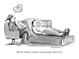 """All of a sudden, everyone seems younger than I am."" - New Yorker Cartoon Premium Giclee Print by Mike Twohy"