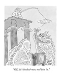 """OK, he's hooked–now reel him in."" - New Yorker Cartoon Premium Giclee Print by Gahan Wilson"