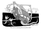 """The trick is in shucking them out of their shells."" - New Yorker Cartoon Premium Giclee Print by Gahan Wilson"
