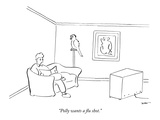 """Polly wants a flu shot."" - New Yorker Cartoon Premium Giclee Print by Michael Shaw"
