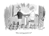 """How much you puttin' in"" - New Yorker Cartoon Premium Giclee Print by Larry Hat"