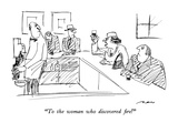 """To the woman who discovered fire!"" - New Yorker Cartoon Premium Giclee-trykk av Al Ross"