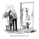 """I know he's little, but he uses it."" - New Yorker Cartoon Premium Giclee Print by Robert Weber"