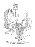 """Did you say something  I thought I heard a sound bite."" - New Yorker Cartoon Premium Giclee Print by George Price"