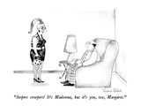 """Jeepers creepers! It's Madonna, but it's you, too, Margaret."" - New Yorker Cartoon Giclee Print by Victoria Roberts"