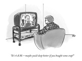 """It's 4 A.M.—maybe you'd sleep better if you bought some crap!"" - New Yorker Cartoon Premium Giclee Print by Carolita Johnson"