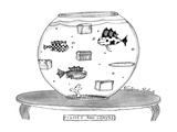 Fishes and Loaves - New Yorker Cartoon Premium Giclee Print by Victoria Roberts