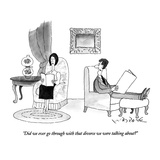 """Did we ever go through with that divorce we were talking about"" - New Yorker Cartoon Giclee Print by W.B. Park"