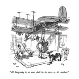 """All Vangundy is or ever shall be he owes to his mother."" - New Yorker Cartoon Premium Giclee Print by George Booth"
