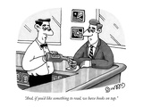 """And, if you'd like something to read, we have books on tap."" - New Yorker Cartoon Premium Giclee Print by J.C. Duffy"