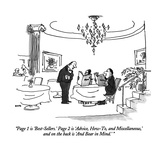 """Page 1 is 'Best-Sellers.'  Page 2 is 'Advice, How-To, and Miscellaneous,'…"" - New Yorker Cartoon Premium Giclee Print by George Booth"